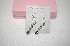 +MBA #17-607  Amethyst & Marcasite Sterling Drop Earrings