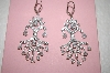 **MBA #17-553  Charles Winston Clear CZ Brilliant Dangle earrings
