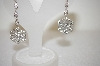 **MBA #17-496  Charles Winston Antique Look Clear Cz Earrings
