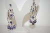 Lavender Glass & Crystal Earrings