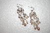 **MBA #17-532  Pink Freahwater Pearls & Crystal Dangle Earrings