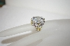 **MBA #17-579  Charles Winston Large Clear CZ Flower Ring