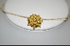 ** 14kt Citrine & Diamond Flower Pin/Pendant