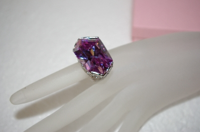 **MBA #17-623  Monster Lavender Fancy Cut CZ & Sterling Ring