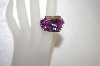 +MBA #17-623  Monster Lavender Fancy Cut CZ & Sterling Ring