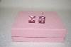 +MBA #17-563  Sterling Pink CZ Square Cut Earrings