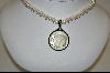 "**Honora Pearl Necklace W/ Hand Carver Mother Of Pearl ""Sun"" Madallion"