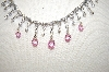 **MBA #17-473  Charles Winston Pink & Clear CZ Necklace