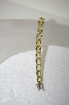 **MBA #17-721  Beautiful Cushion Cut Yellow Quartz Sterling Bracelet