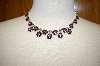 **MBA #17-391  Purple & Pink Crystal Necklace