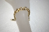 "**MBA #17-138A 6"" 14K Yellow Gold Triple Link Charm Bracelet"
