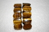 **MBA #17-063  Set Of 2 Stretch Tiger Eye Bracelets