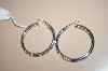 **MBA #17-027  Sterling Wedding Band Hoop Earrings