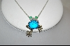 "**MBA #CW-FP  ""Charles Winston ""Frog"" CZ Pendant"
