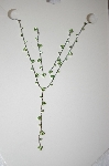 **MBA #17-081  Simple Green Crystal Neckklace & Earrings Set