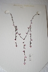 **MBA #17-084  Simple Pink Crystal Necklace & Earring Set