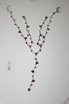 **MBA #17-087  Simple Purple Crystal Necklace & Earring Set
