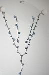 **MBA #17-079  Simple Blue Crystal Necklace & Earrings Set