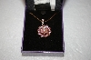 **MBA #17-068  Suzanne Somers Pink CZ Flower Necklace