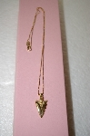 **MBA #17-705  14K Yellow Gold Arrow Head Pendant With Box Chain