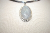 **MBA #17-435  Sterling Oval Moonstone Pendant