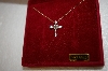 **MBA #17-183  14K Yellow Gold 1/4ct Diamond Cross Pendant