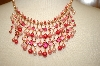 **MBA #17-249  Joan Rivers Pink Necklace & Earrings Set