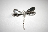**MBA #18-019  Sterling Artist Signed Large Dragonfly Pin