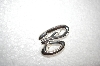 "**MBA #18-101  Sterling Sculpted Initial ""B"" Pin"