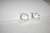 "**MBA #18-063  Sterling 1"" Chubby Hoops & 8mm Poliched Bead Studs"
