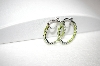 +MBA #18-087  Sterling Inside Out Peridot Hoops
