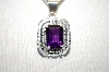 **MBA #18-470  Artist Signed Sterling Amethyst Pendant