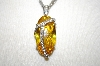"**MBA #18-403  ""Charles Winston Oval Cut CZ Canary Pendant"