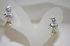 Charles Winston Fancy  Clear & Yellow CZ Earrings