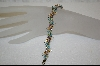 "**Platinum Plated Sterling 7-1/2"" Multi-Gemstone Butterfly Bracelet"