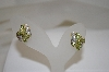 **MBA # 18-395  14K Yellow Gold Peridot & Diamond Earrings
