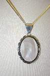 **MBA #18-374  Sterling Mother Of Pearl  Pendant