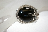 **MBA #18-369  Artist Signed Sterling Black Onyx Spider Pin