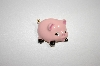 Pink Enameled Pig Pin