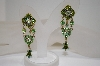 Fancy Green & AB Crystal Earrings