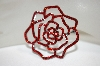 **MBA #18-384  Red Crystal Rose Pin