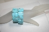 **MBA #18-050  Set Of Two Blue Gemstone Stretch Bracelets