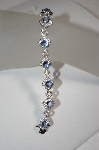 **MBA #18-174  Charles Winston Simulated Tanzanite & Clear CZ Bracelet