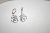 **MBA #18-376  Sterling Open Rose Lever Back Earrings