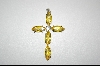 ** Sterling Yellow CZ Cross Pendant