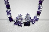 Beautiful Purple & Lavender CZ Necklace & Earring Set