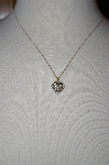 **MBA #18-199  10K Two-Tone Diamond Heart Pendant With Chain