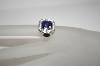 **MBA #18-231  Charles Winston Simulated Tanzanite Cushion Cut Ring
