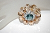 **MBA #18-268  Charles Winston Fancy Cut Champagne & CZ Brooch