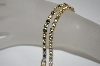 "**MBA #19-305  Set Of 2 Gold Plated 6-1/2"" Cz Bracelets"